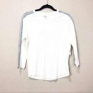 St. Johns Bay Active Boat Neck 3/4 Sleeve Top